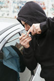 Car theft Stock Photo