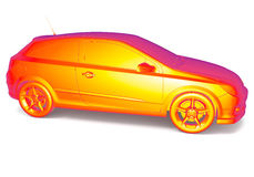 Car thermal image Stock Photo