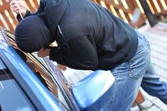 Car thief Royalty Free Stock Images