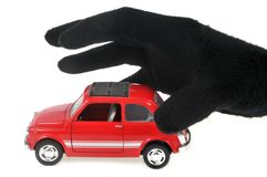 The car thief royalty free stock photography