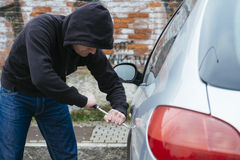 Car thief street Stock Photography