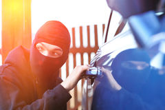 Car thief Royalty Free Stock Image