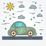 Car. Thin line icon. Stock Photography