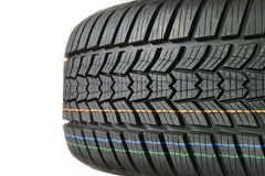 car tire Колесо автомобиля высокой эффективности резины или caoutchouc Стоковые Изображения
