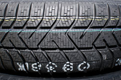 Car tire. Close up of a car tire Royalty Free Stock Images