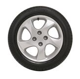 Car Tire Tyre. Car tire with rim on a white background Stock Images
