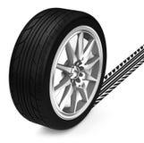 The car tire Royalty Free Stock Photos