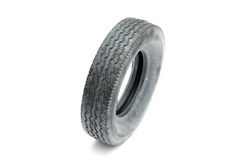 Car tire. Over white background Royalty Free Stock Image