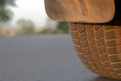 A car tire Stock Images