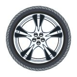 Car tire and alloy wheel. vector  Royalty Free Stock Image