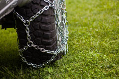 Car tire chains Stock Photo