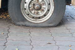 Car tire change Tires. That are out of use Royalty Free Stock Photos