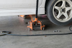 Car tire change Tires. That are out of use Royalty Free Stock Photo