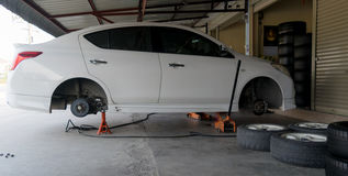 Car tire change Tires. That are out of use Stock Photography
