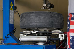 Car tire change Tires. That are out of use Stock Photos