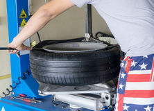 Car tire change Tires Royalty Free Stock Photography