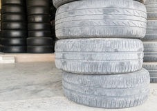 Car tire change Tires. That are out of use Stock Images