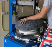 Car tire change Tires Stock Photography