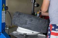 Car tire change Tires Stock Image