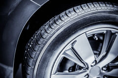 Car tire. Close up the car tire Royalty Free Stock Photo