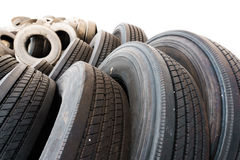 Car tire close up, used tires Royalty Free Stock Images