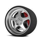 Car tire concept  3d illustration Stock Photos