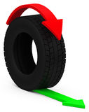 The car tire. 3d generated tire for car Royalty Free Stock Photo