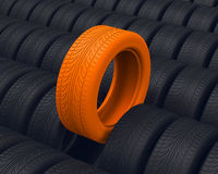 The car tire. 3d generated tire for a car Royalty Free Stock Image