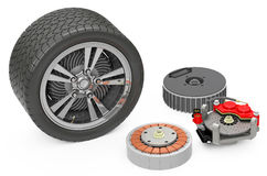 The car tire. 3d generated tire for car Stock Photos