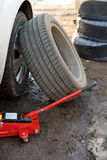 Car tire fitting Stock Image