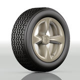 Car tire gold Stock Photography