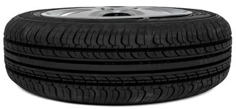 Car tire, isolated on white background Stock Image