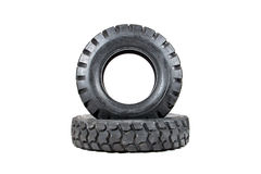 Car tire isolated on white background. Truck tire isolated. Dump Stock Photography