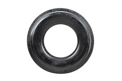 Car tire isolated on white background. Truck tire isolated. Dump Stock Photos