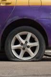 Car tire leak. Stock Photo