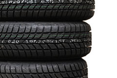 Car tire. Photo lots of new black car tire Royalty Free Stock Photography