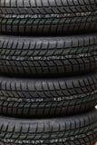Car tire. Photo lots of new black car tire Stock Photo