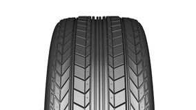 Car tire with protector stock video footage