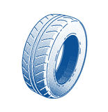 Car tire rubber wheel Stock Photography