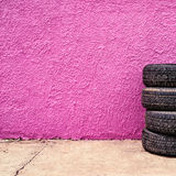 Car tire shop background Stock Images