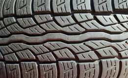 Car tire showing profile Stock Photo