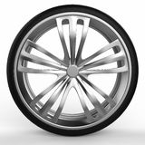 Car tire side view. On a white background Stock Image