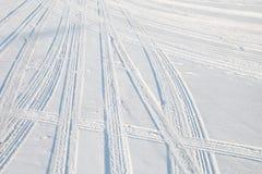 Car tire track Stock Photo