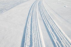 Car tire track Stock Photography