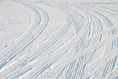 Car tire track Stock Image