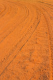 Car tire tracks Stock Images