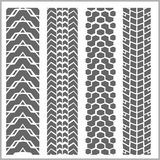 Car tire tracks - vector set Stock Image