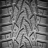 Car tire tread background closeup. Abstract concept image Stock Photography