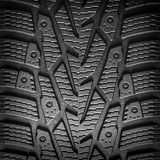 Car tire tread background closeup. Royalty Free Stock Photos