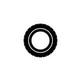 Car tire vector icon Stock Photography